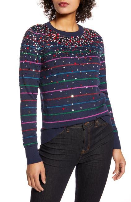 Image of Halogen X Atlantic-Pacific Confetti Metallic Stripe Sweater