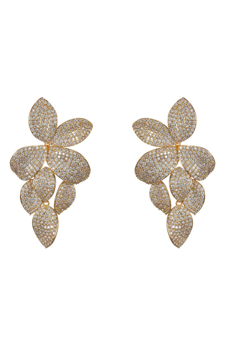 Floral Pavé Earrings by Nina