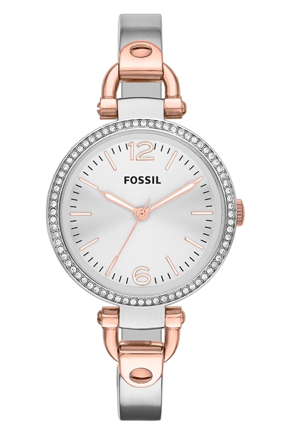 ,                             'Georgia' Crystal Bezel Watch, 32mm,                             Main thumbnail 3, color,                             041
