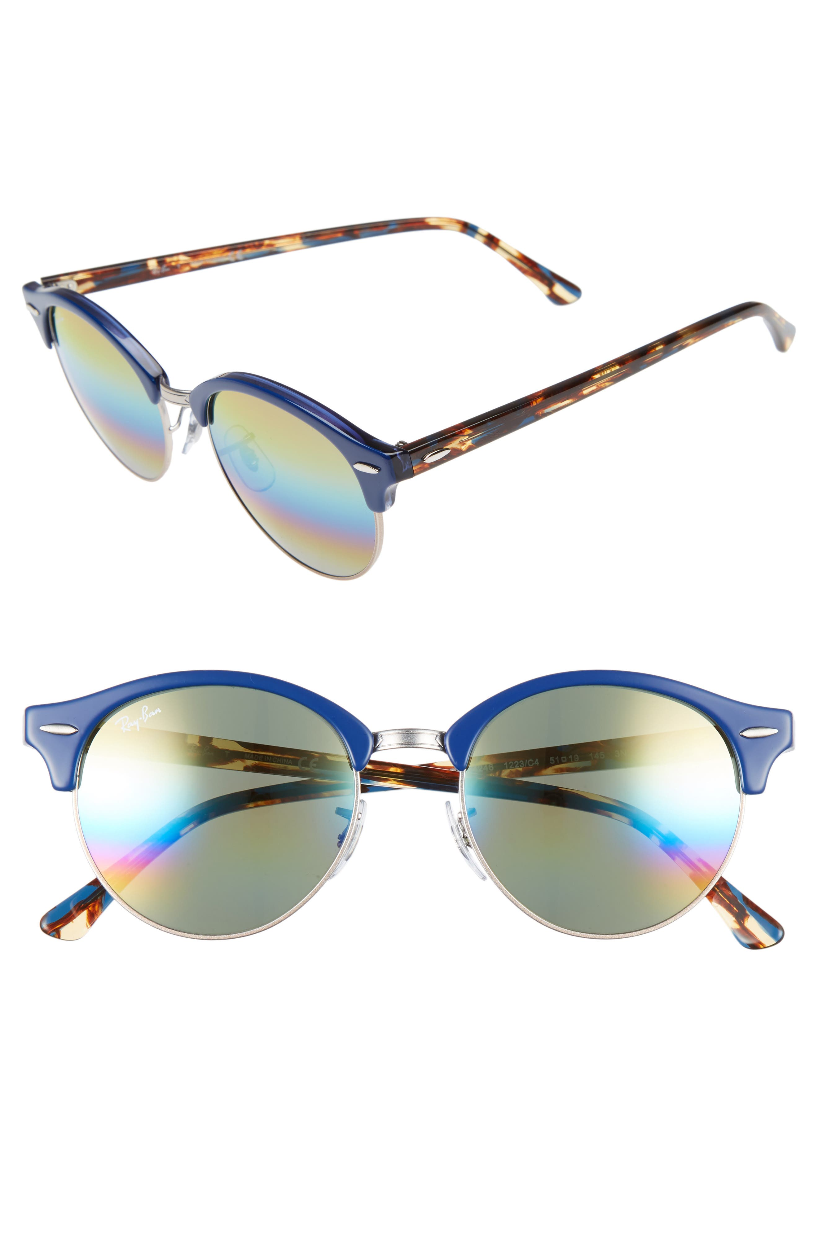 Image of Ray-Ban 51mm Icons Clubround Phantos Sunglasses