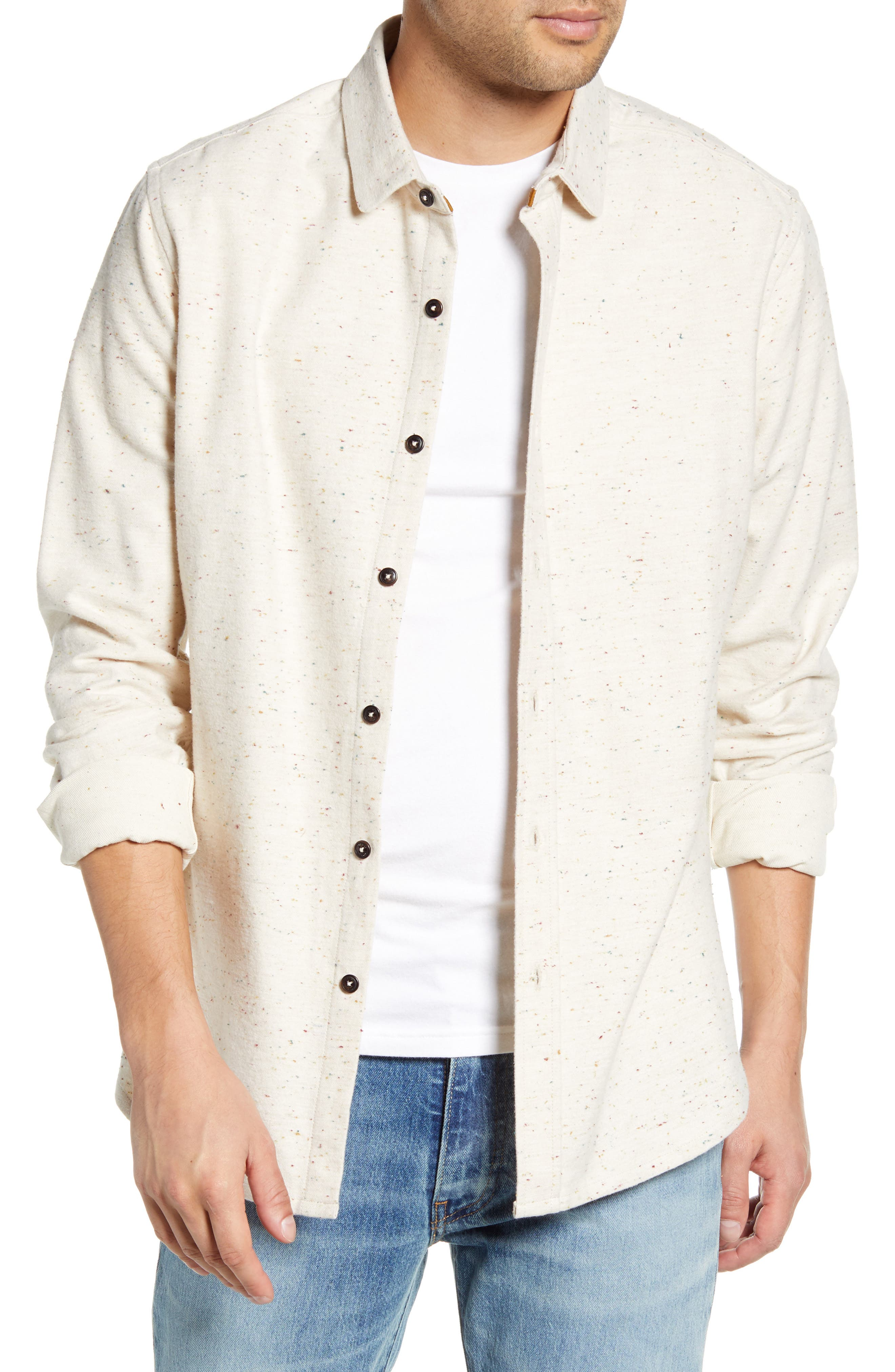 Jaxon Regular Fit Button-Up Neppy Flannel Shirt