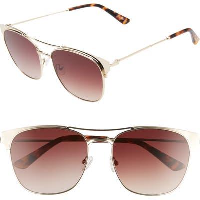 Sam Edelman 5m Gradient Aviator Sunglasses - Gold