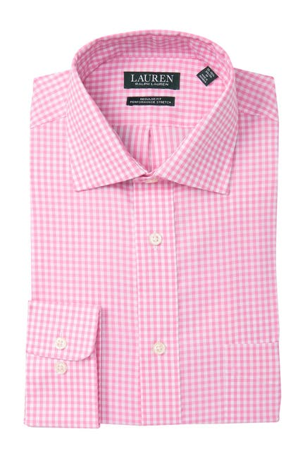 Image of Lauren Ralph Lauren Regular Fit Stretch Check Dress Shirt
