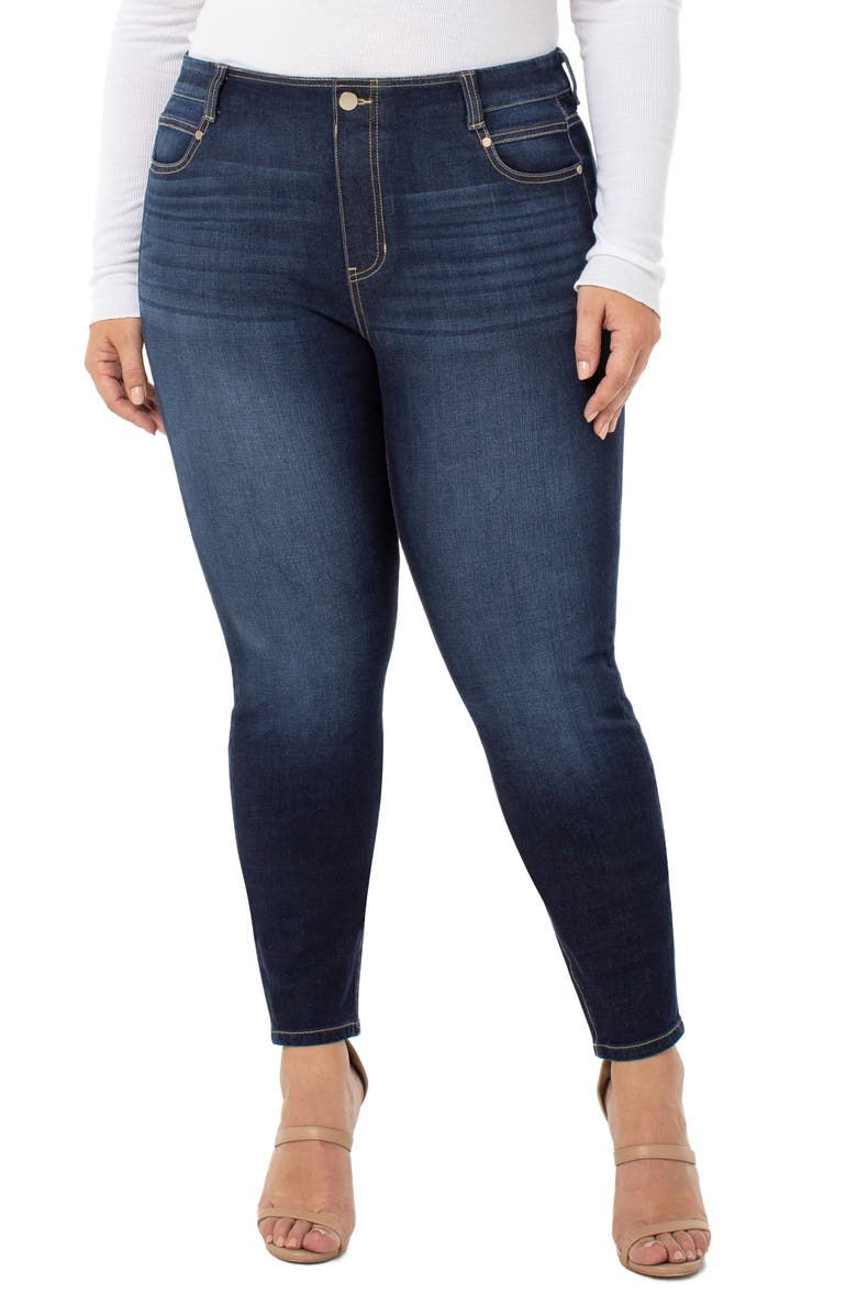 LIVERPOOL Gia Glider Pull-On Skinny Jeans, Main, color, PAYETTE