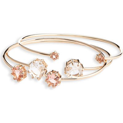 Rachel Parcell Set Of 3 Crystal Bangles (Nordstrom Exclusive)