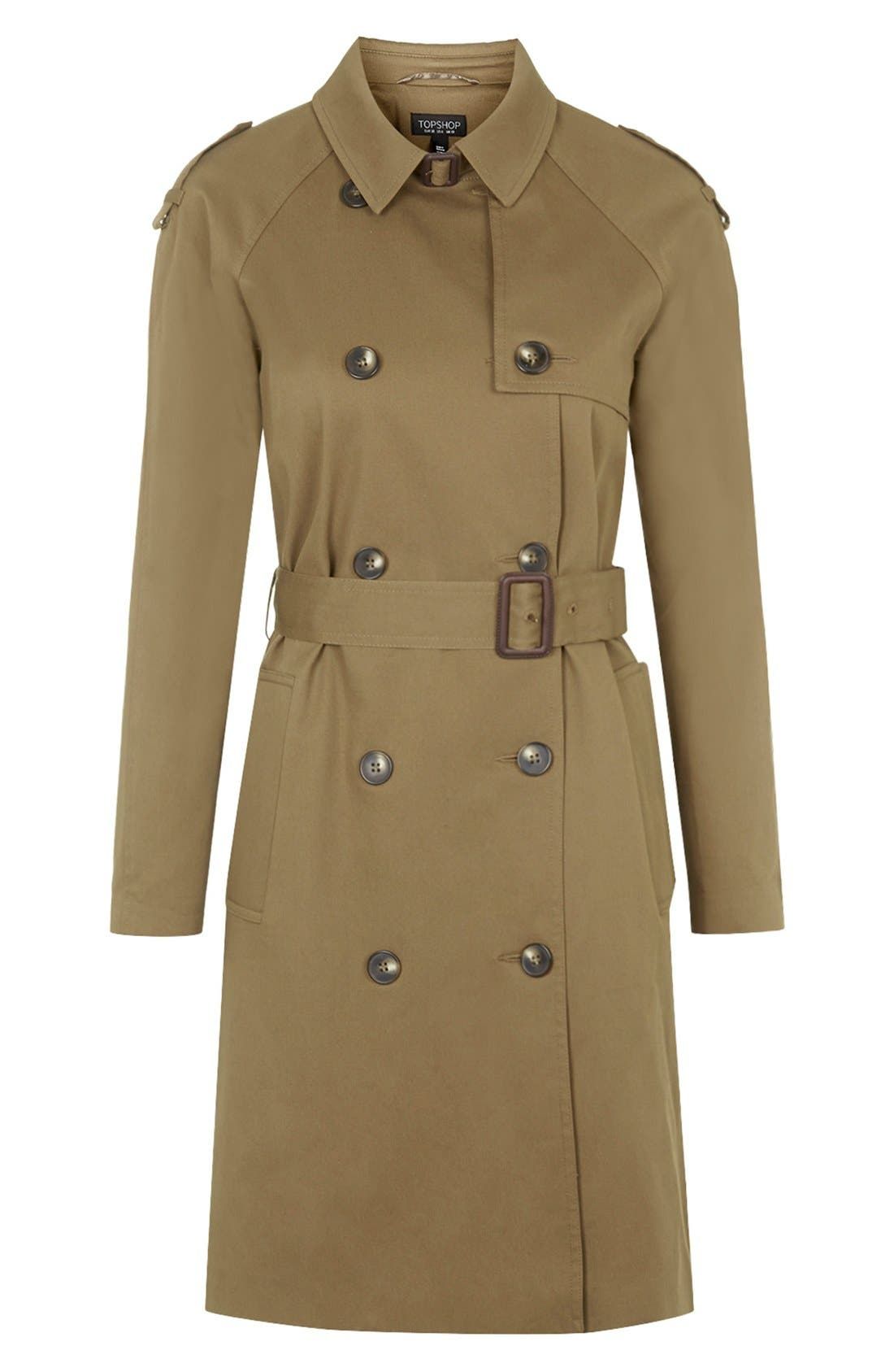 ,                             Double Breasted Cotton Trench,                             Alternate thumbnail 7, color,                             300