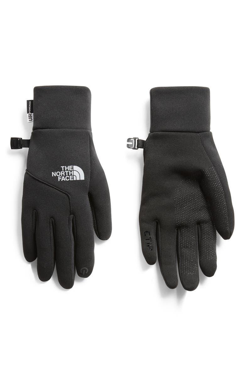 THE NORTH FACE E-Tip Gloves, Main, color, TNF BLACK
