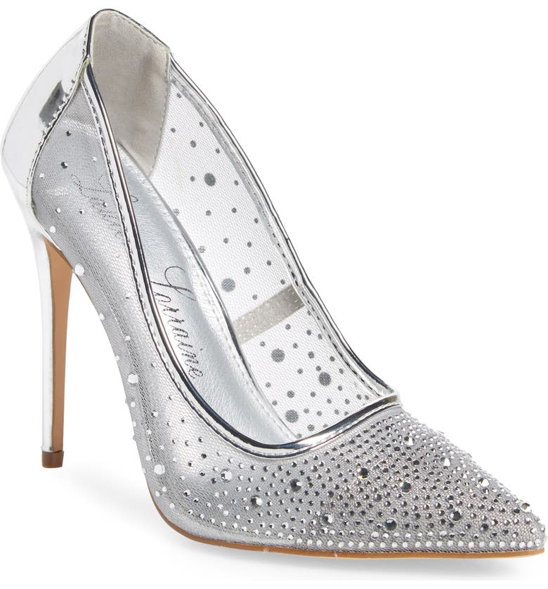 LAUREN LORRAINE Janna Embellished Illusion Pump, Main, color, 045