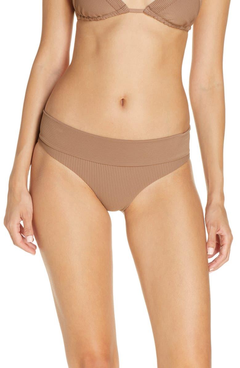 FRANKIES BIKINIS Frankies Gavin Bikini Bottoms, Main, color, BROWNIE