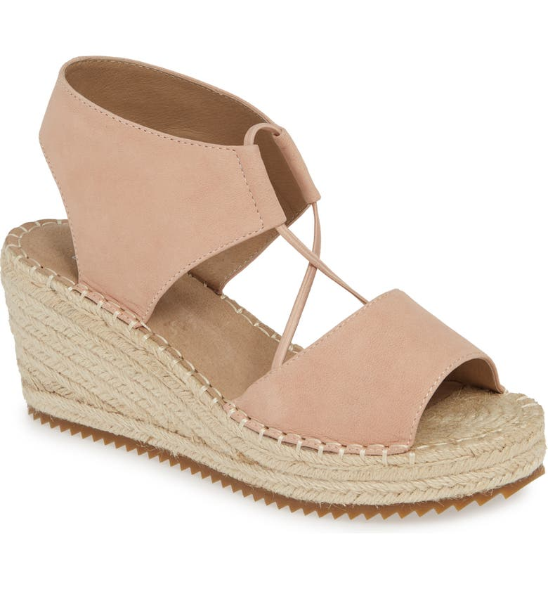 EILEEN FISHER Whim Espadrille Wedge Sandal, Main, color, BLUSH TUMBLED NUBUCK LEATHER