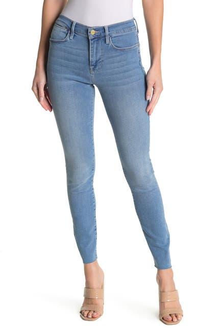 Image of FRAME Le High Raw Edge Skinny Jeans