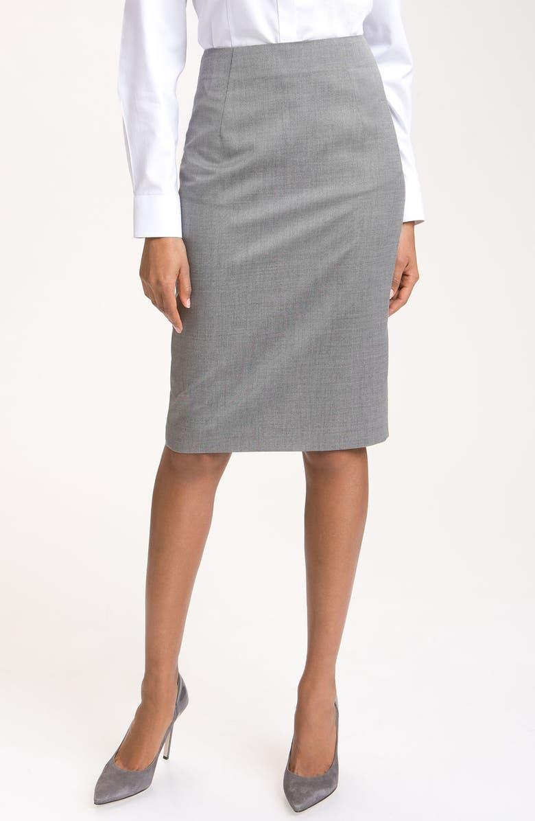 BOSS HUGO BOSS Pencil Skirt, Main, color, 020