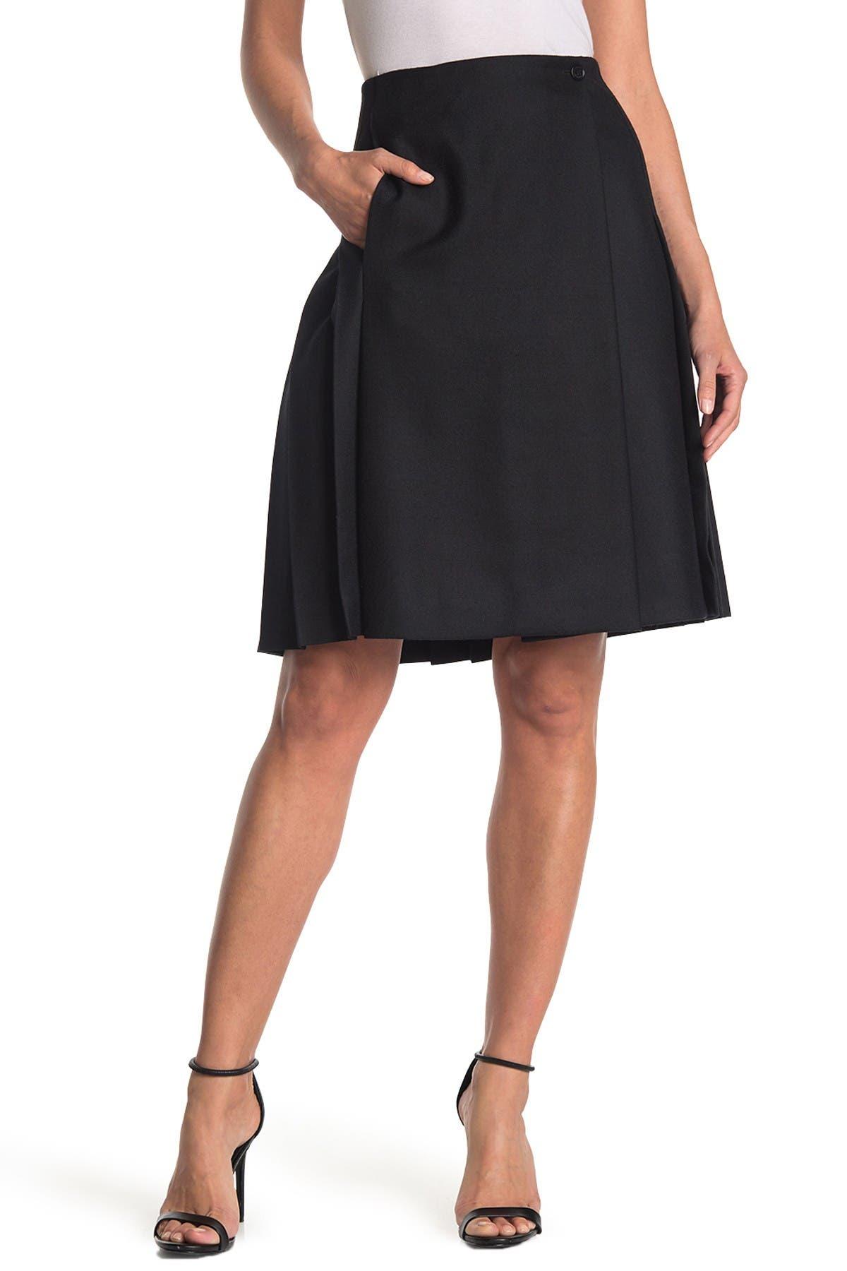 Image of Burberry Wool Skirt
