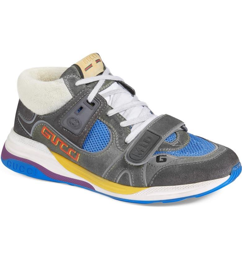 GUCCI Ultrapace Sneaker, Main, color, WHITE