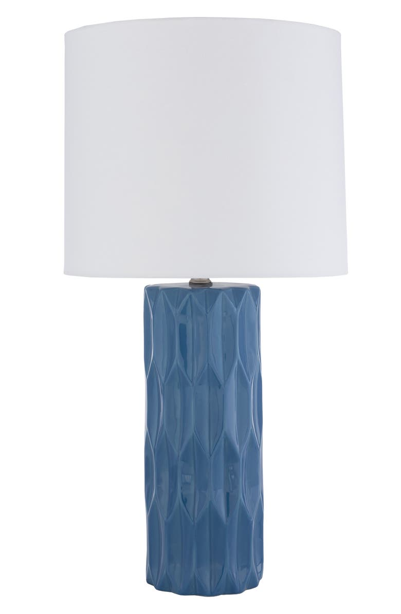 SURYA HOME Draven Table Lamp, Main, color, BRIGHT BLUE
