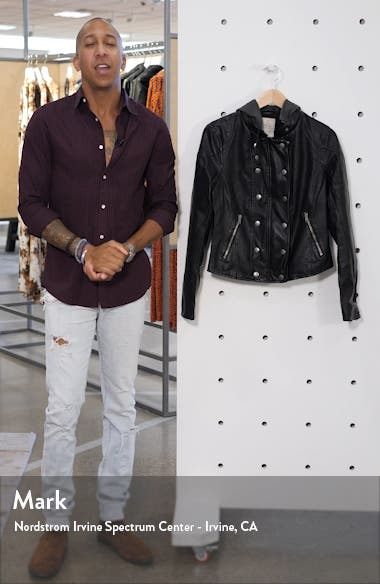 New Dawn Hooded Faux Leather Jacket, sales video thumbnail