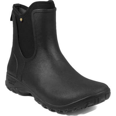 Bogs Sauvie Waterproof Chelsea Boot, Black