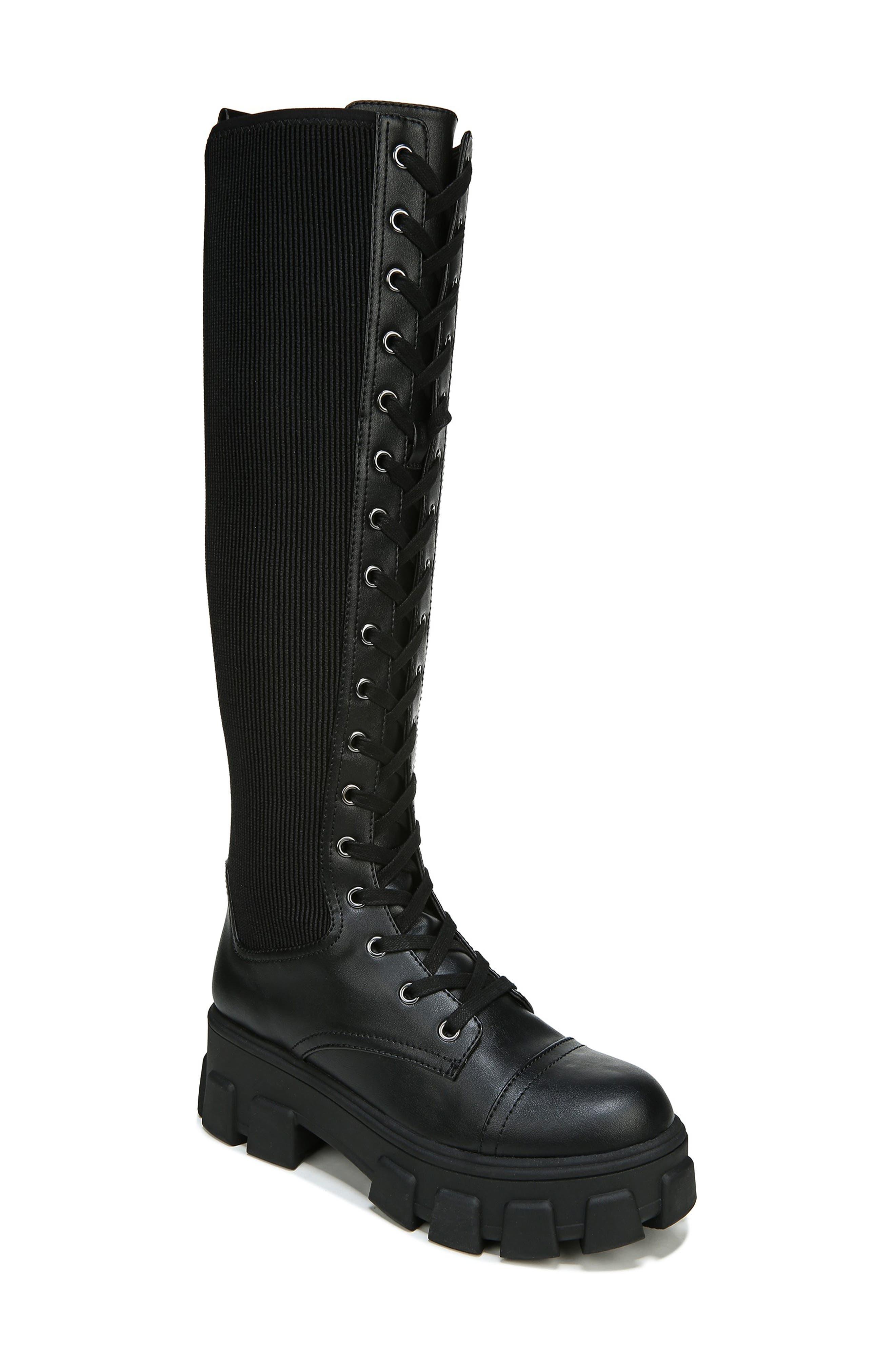 Dinah Knee High Combat Boot