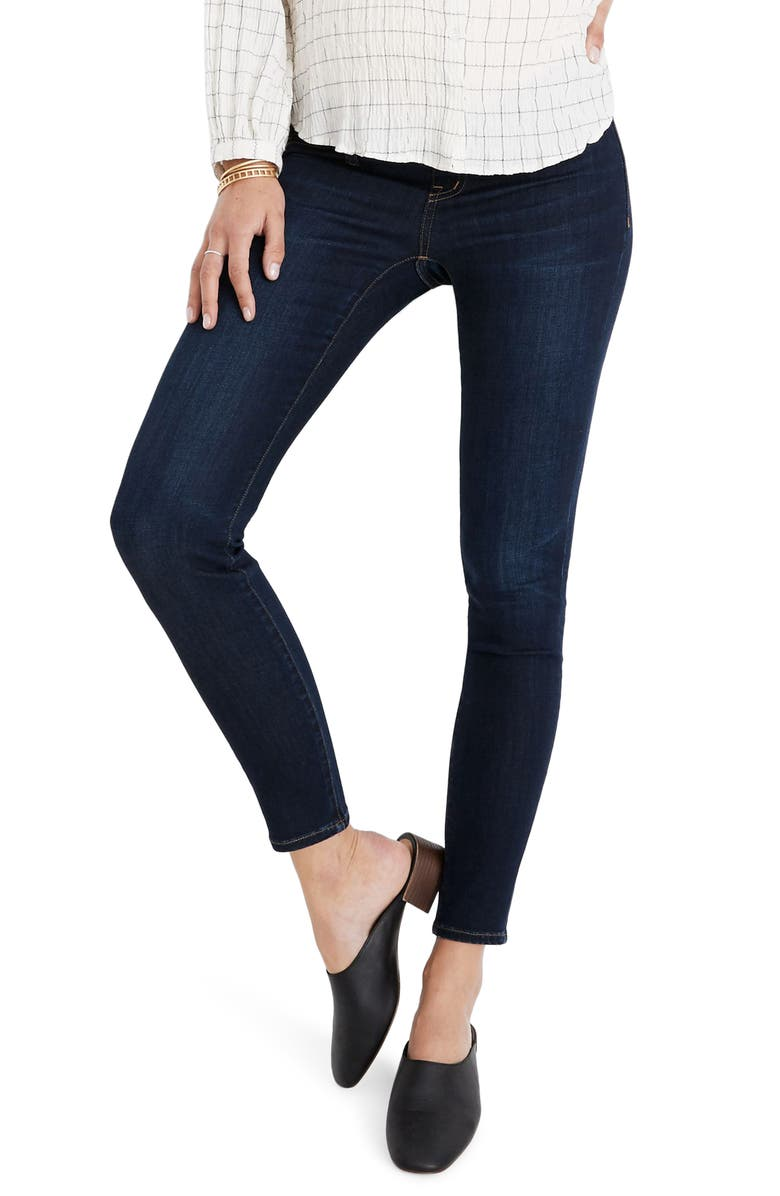 MADEWELL Maternity Side-Panel Skinny Jeans Adjustable Tencel<sup>®</sup> Lyocell Edition, Main, color, 400