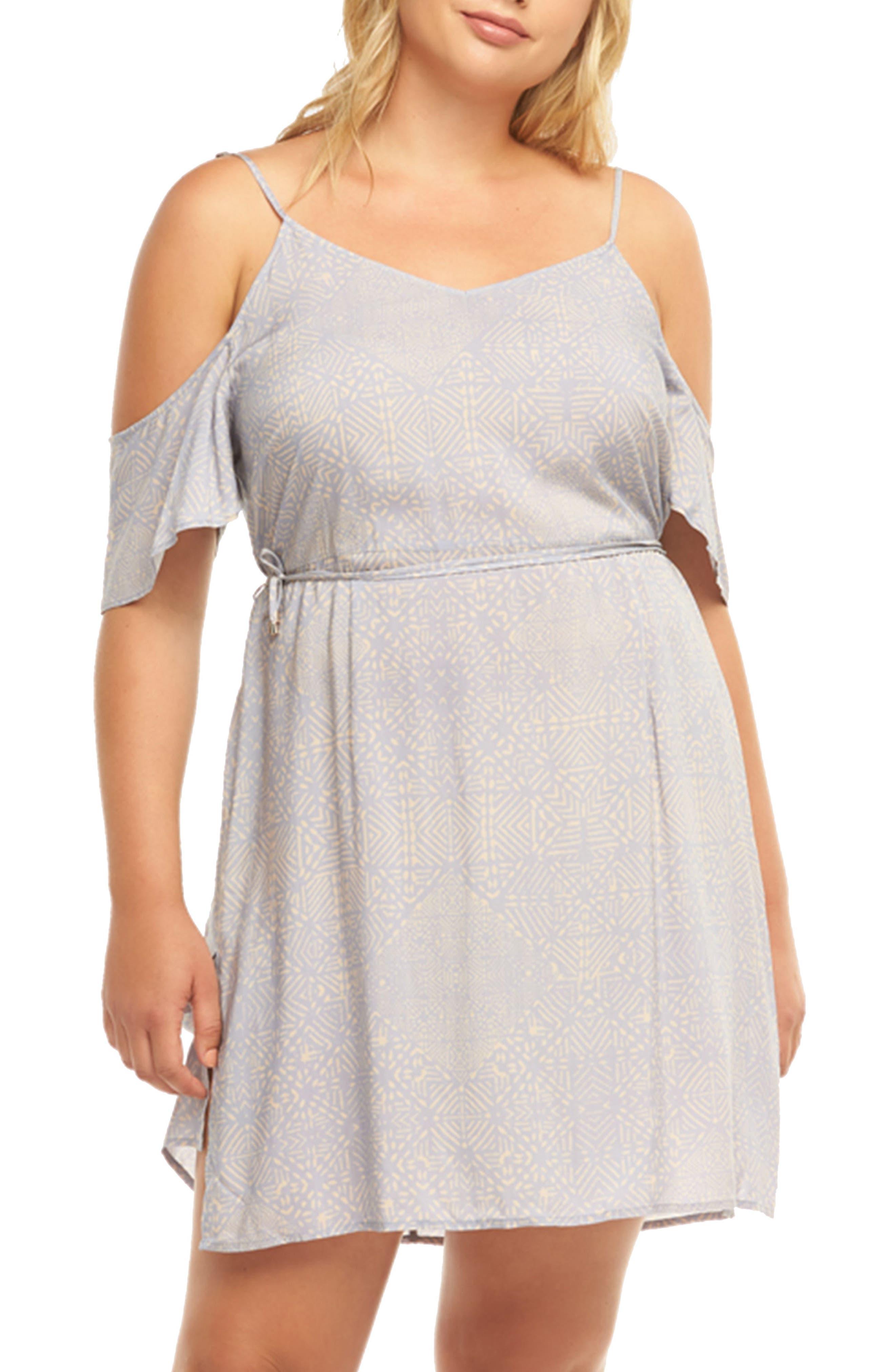 Plus Size Tart Yvette Cold Shoulder Dress, Pink