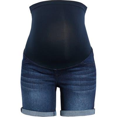 1822 Denim Re: denim Cuff Maternity Shorts, Blue