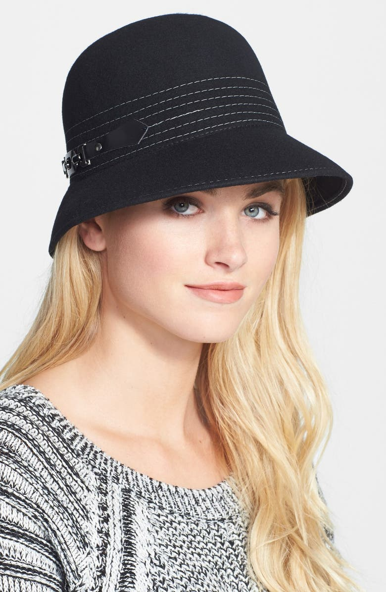 NORDSTROM Wool Cloche, Main, color, 001