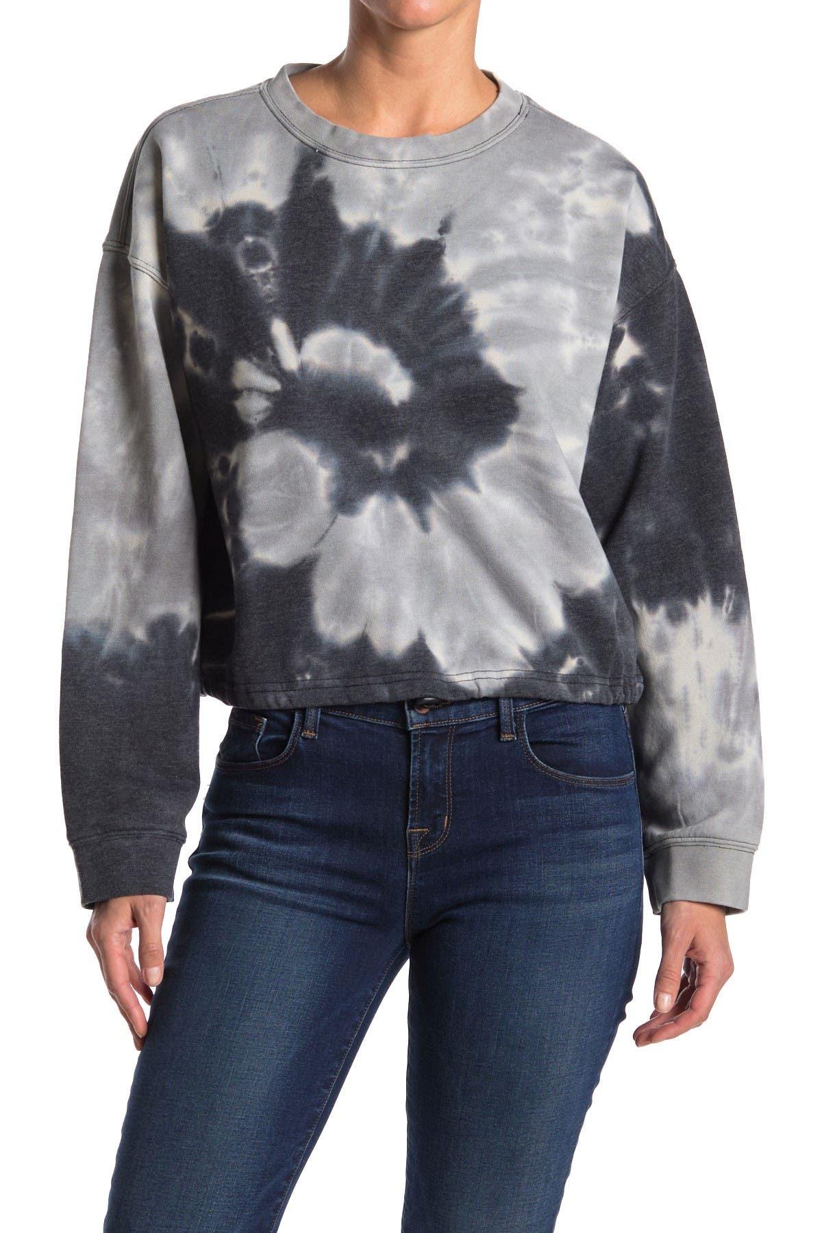 Image of Velvet Heart Eliza Tie-Dye Crop Sweatshirt