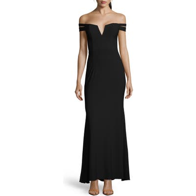 Xscape Off The Shoulder Evening Dress, Black