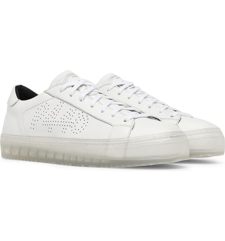 P448 John L Low Top Sneaker, Main, color, WHITE/ CLEAR