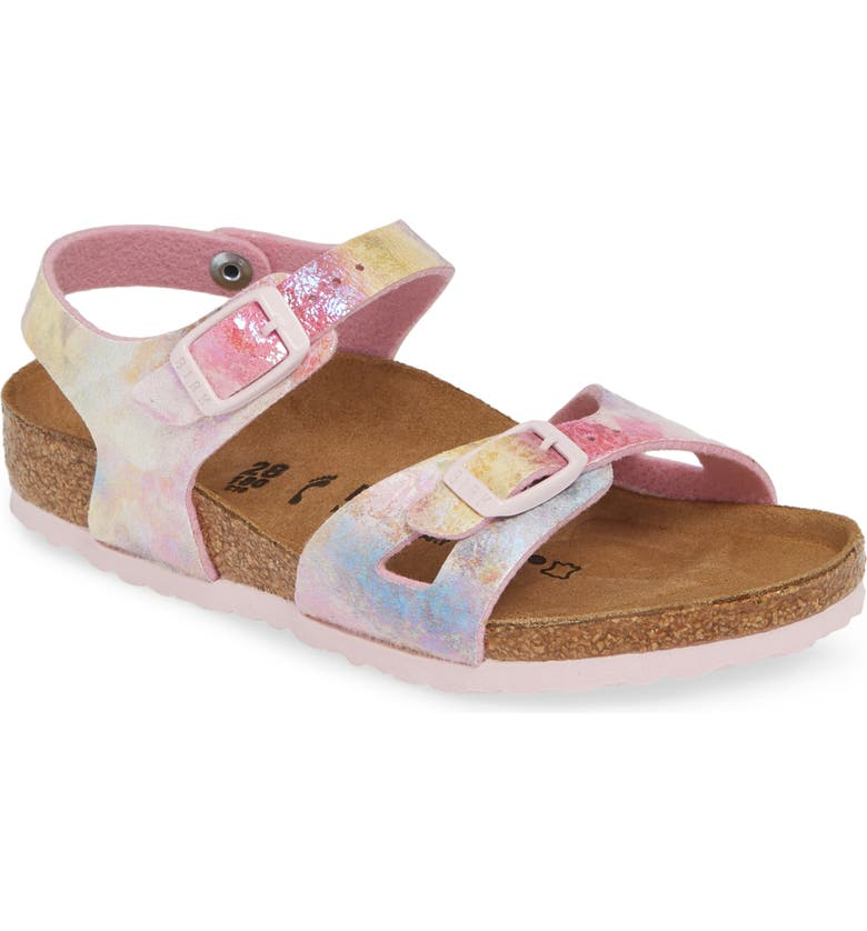 BIRKENSTOCK Rio Watercolor Sandal, Main, color, WATER COLOR MULTI