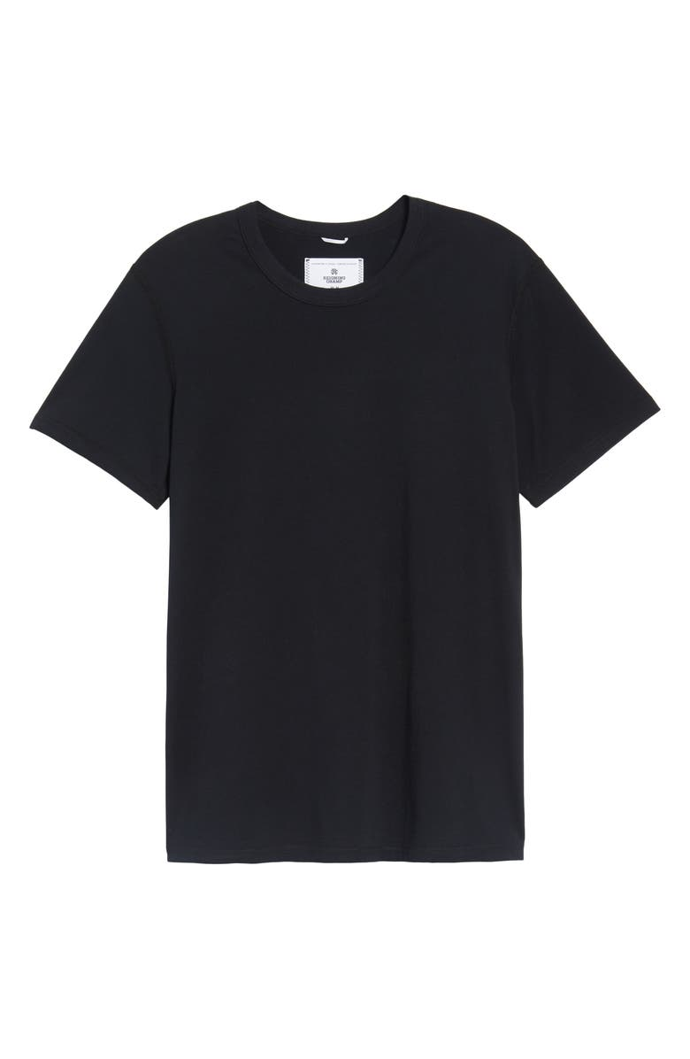 REIGNING CHAMP Short Sleeve Slim Fit Crewneck T-Shirt, Main, color, BLACK