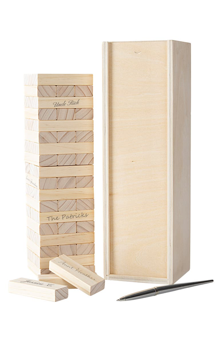 CATHY'S CONCEPTS Building Block Guest Book, Main, color, BROWN