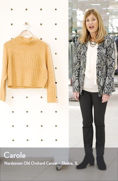 Rib Crop Turtleneck Sweater, sales video thumbnail