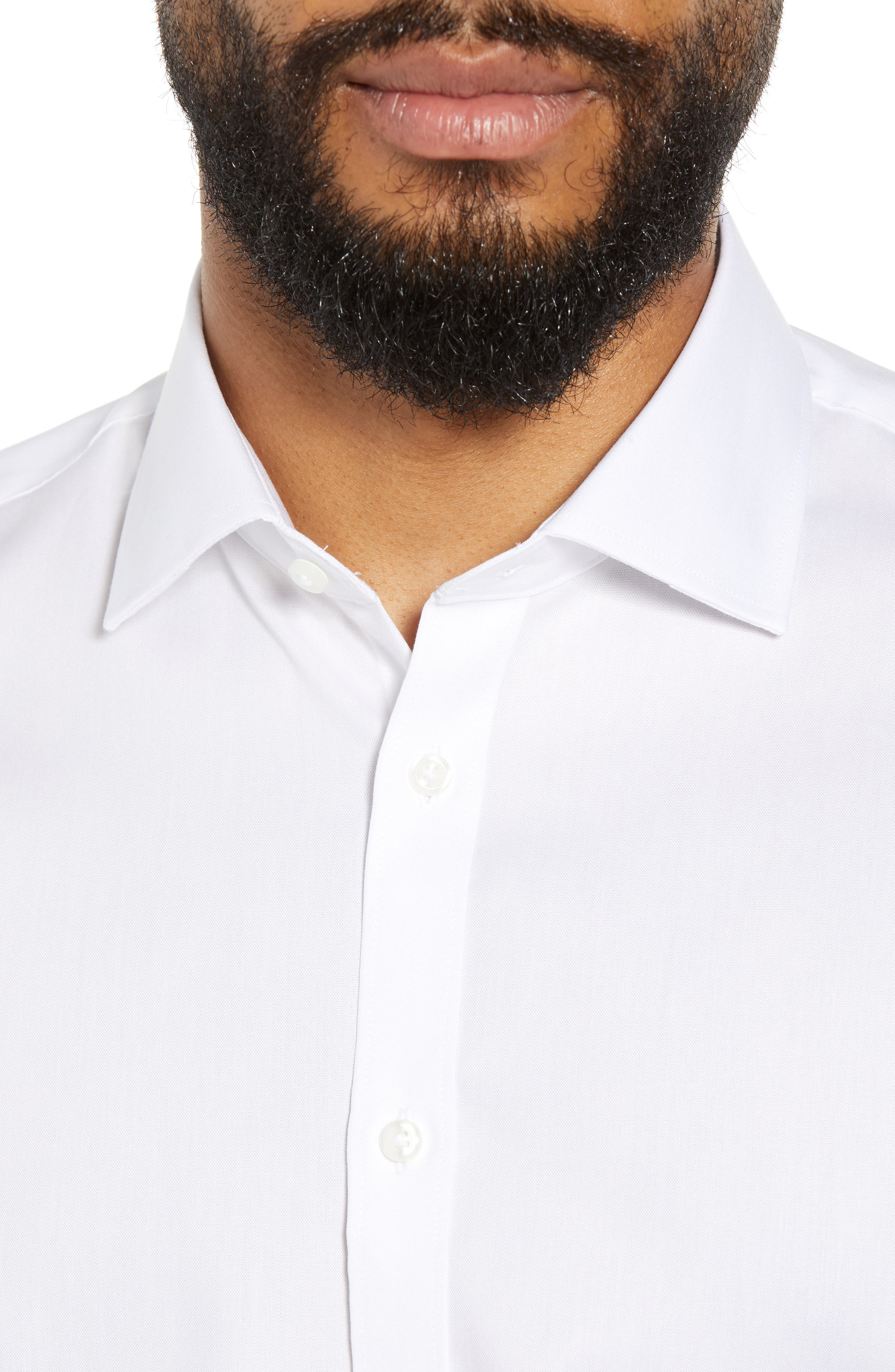 ,                             Extra Trim Fit Non-Iron Solid Dress Shirt,                             Alternate thumbnail 50, color,                             100