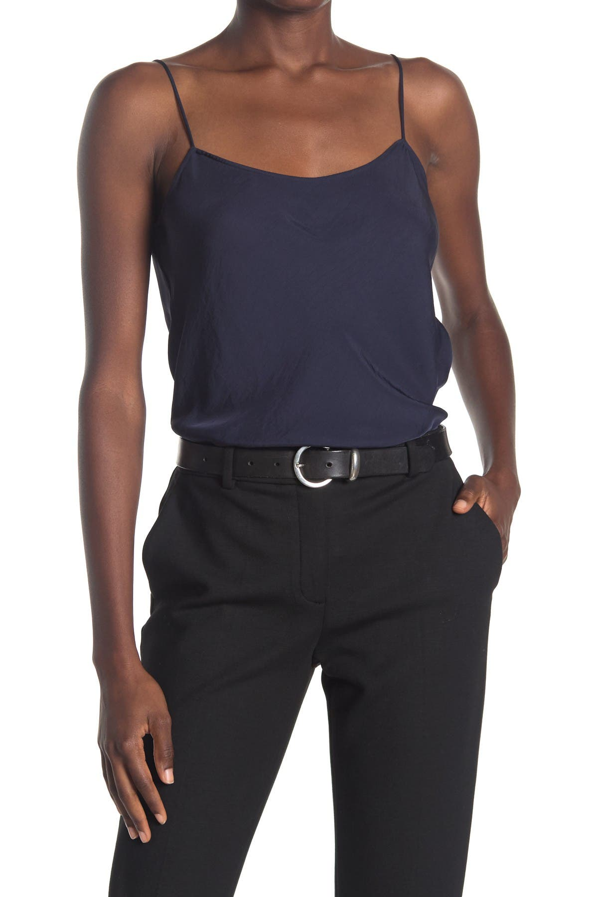 Image of Theory Teah Wash Twill Scoop Neck Cami