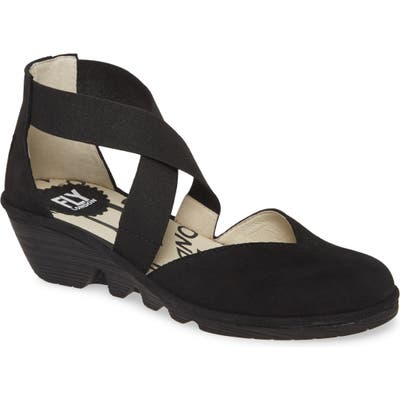 Fly London Paco Wedge, Black