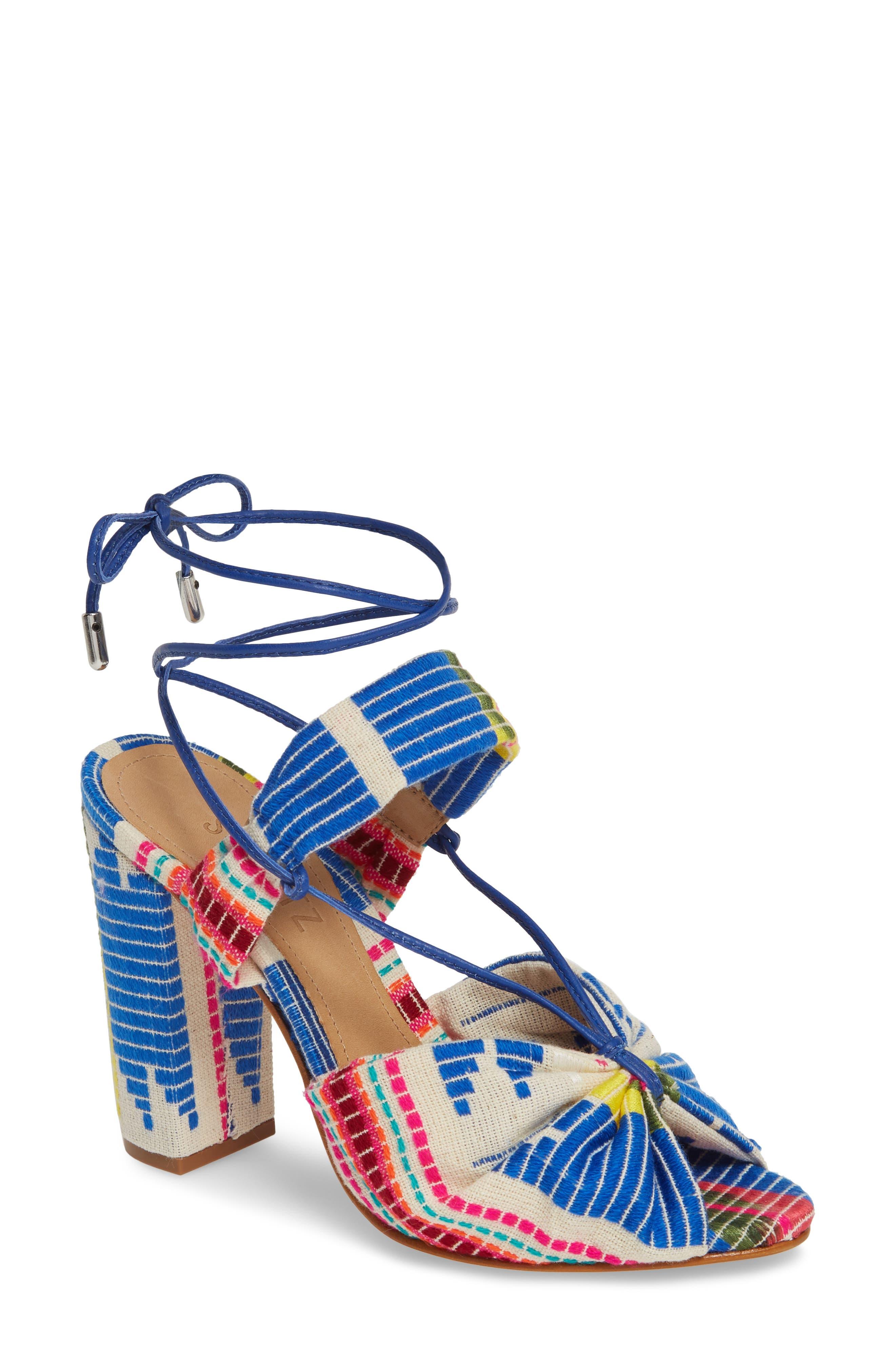 Schutz Ailika Lace-Up Sandal- Blue