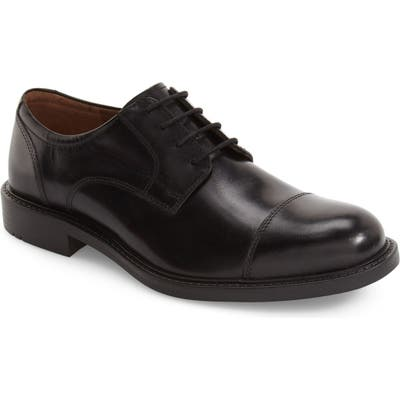 Johnston & Murphy Tabor Cap Toe Derby, Black