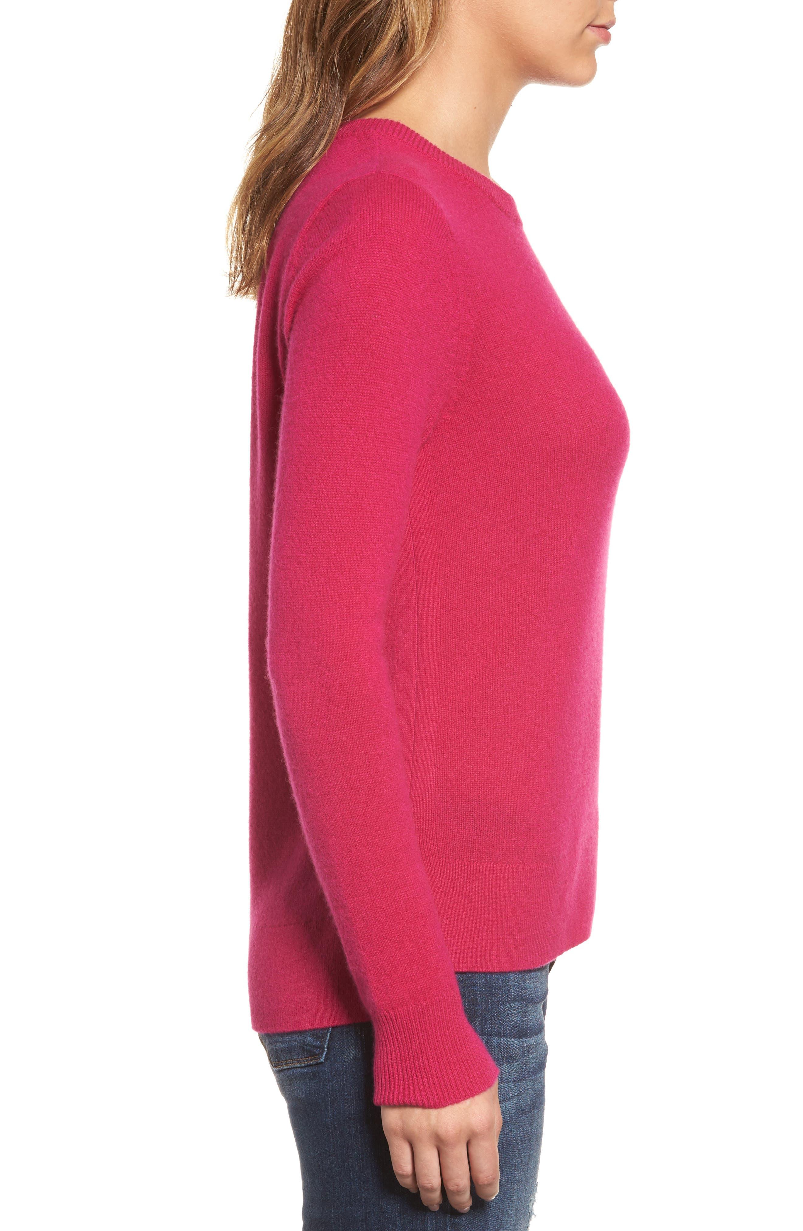 ,                             Crewneck Cashmere Sweater,                             Alternate thumbnail 281, color,                             651