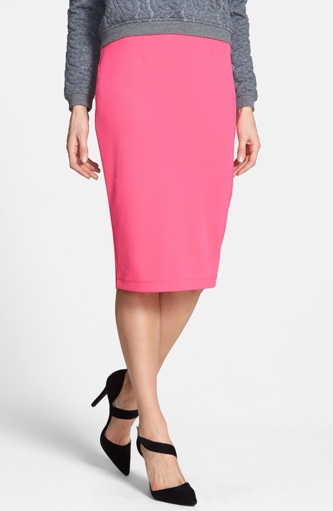 ,                             Zip Back Knit Pencil Skirt,                             Main thumbnail 18, color,                             660