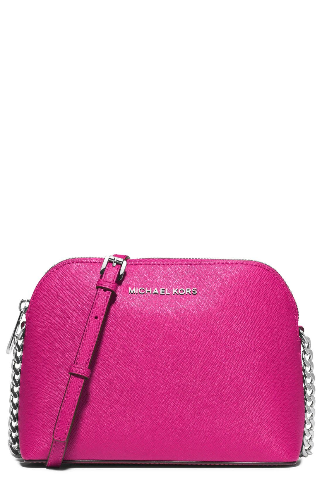 ,                             'Large Cindy' Saffiano Leather Crossbody Bag,                             Main thumbnail 22, color,                             655