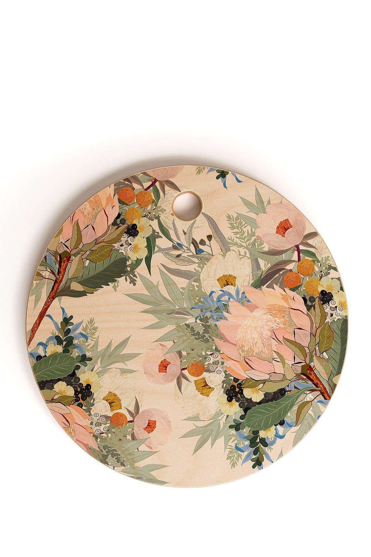 Image of Deny Designs Iveta Abolina Protea Emmaline Round Cutting Board