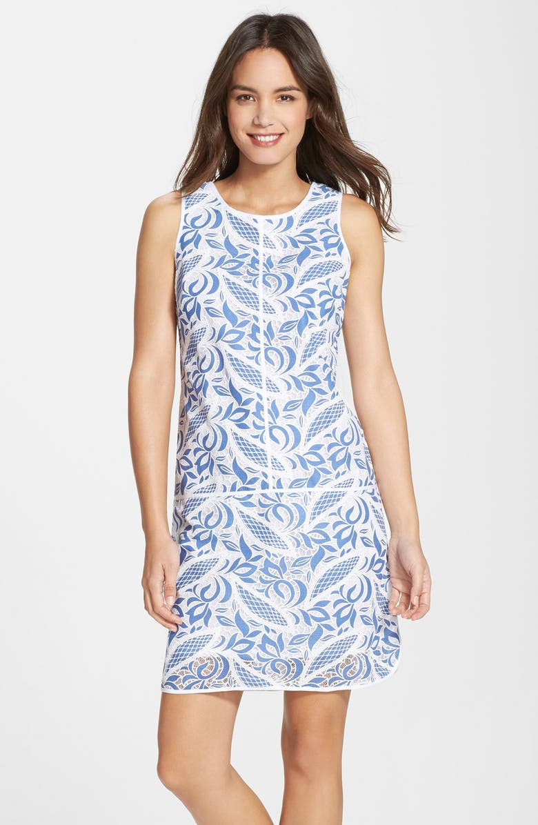ADRIANNA PAPELL Lace Shift Dress, Main, color, 471