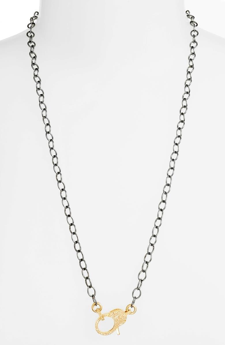 JANE BASCH DESIGNS Jane Basch Pavé Diamond Clasp Long Chain Necklace, Main, color, 001