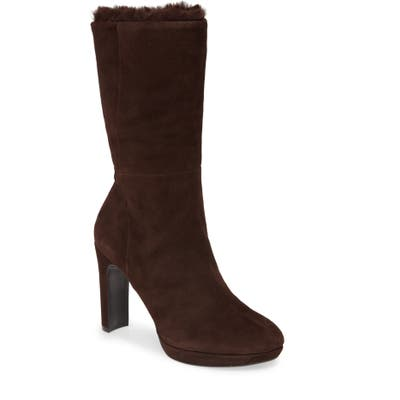 Calvin Klein Pebbles Faux Shearling Lined Boot, Brown