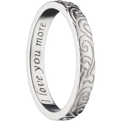 Monica Rich Kosann Love You More Scrollwork Poesy Ring Charm