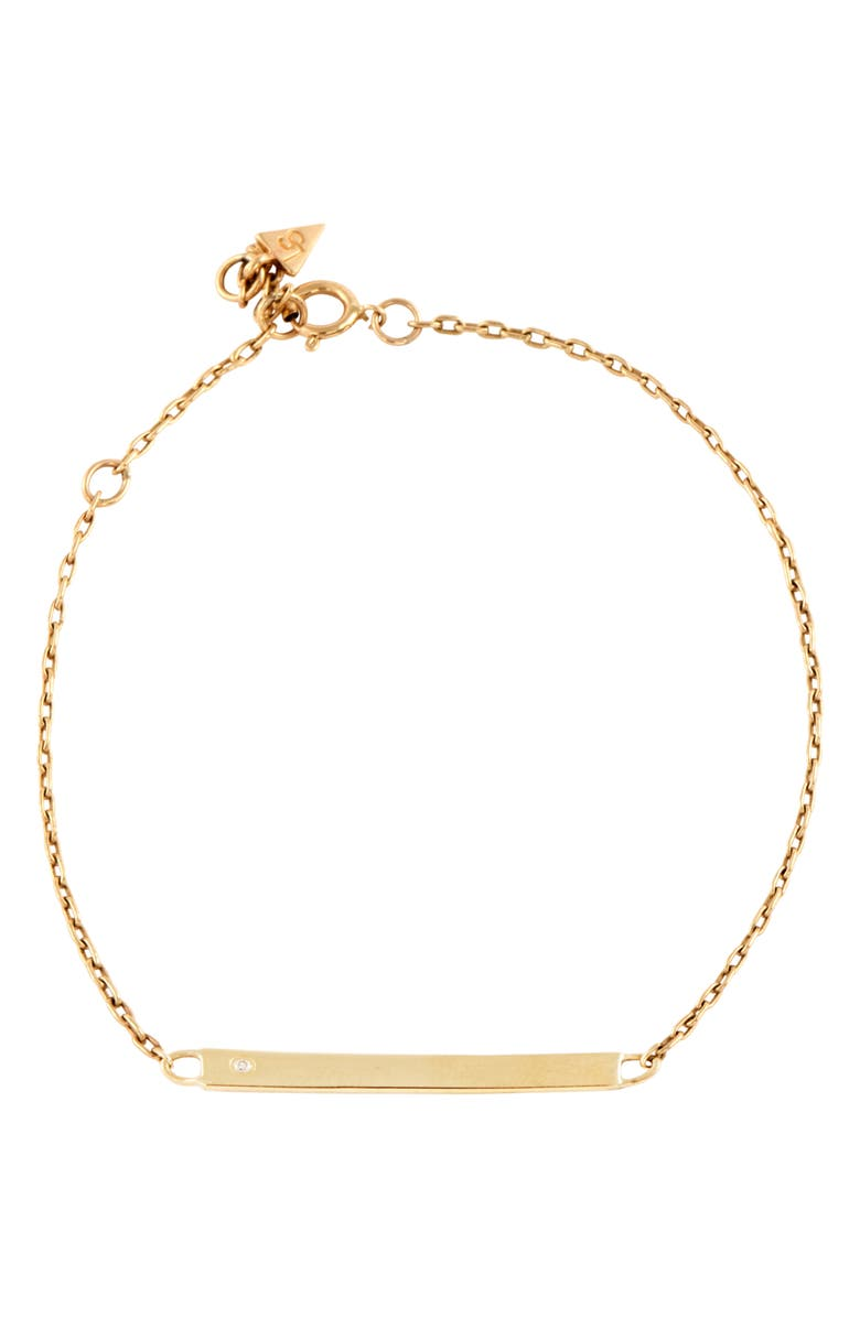 LOREN STEWART Itsy ID Bracelet, Main, color, GOLD