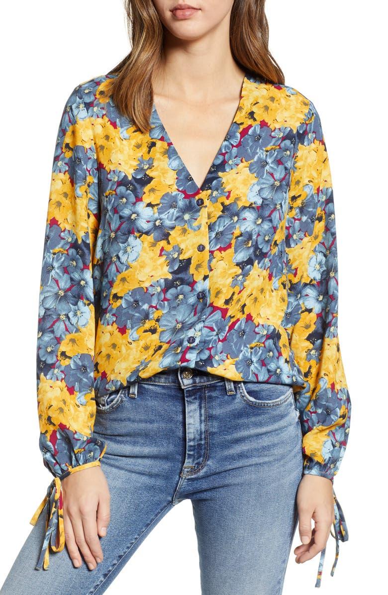 VERO MODA Mille Floral Print Top, Main, color, 400