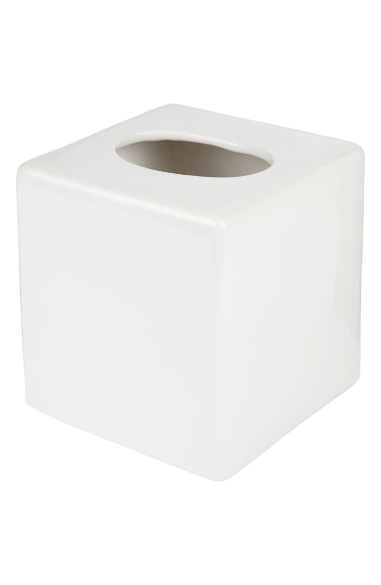 THE WHITE COMPANY Newcombe Ceramic Tissue Box Cover, Main, color, 100