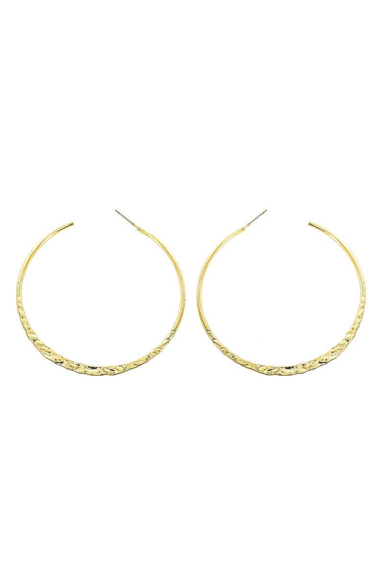 PANACEA Hammered Hoop Earrings, Main, color, 710